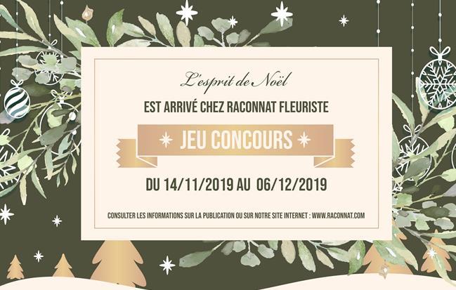 Jeu concours de Noël Raconnat Fleuriste